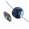 Glass Bead Swirl 13mm Transparent Aqua Azuro